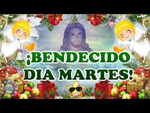 Video Mensaje feliz y bendecido martes en navidad